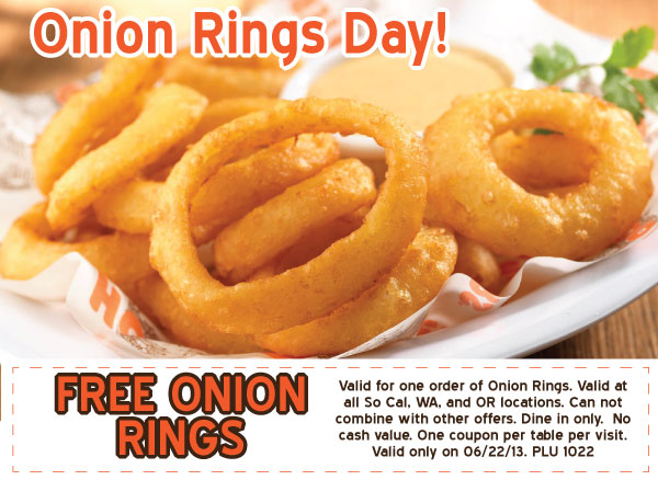 FREE onion rings at Hooters -S...